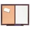 "Lorell 24""x18"" Dry-Erase/Bulletin Combo Boards - 24"" (2 ft) Width x 18"" (1.5 ft) Height - Melamine Surface - Mahogany Wood Frame - 1 Each"