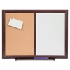 "Lorell Dry-Erase/Bulletin Combo Board - 36"" (3 ft) Width x 48"" (4 ft) Height - Melamine Surface - Mahogany Wood Frame - 1 Each"