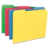 "Business Source 1/3-cut Tab Hvywt Color File Folders - Letter - 8 1/2"" x 11"" Sheet Size - 1/3 Tab Cut - Assorted Position Tab Location - 14 pt. Folder Thickness - Assorted - Recycled - 50 / Box"