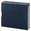 "92030 Navy MO File Case Wrap - 3"" Folder Capacity - Letter - 8.50"" x 11"" Sheet Size - 750 Sheet Capacity - Top Tab Location - Corrugated - Navy - Recycled - 1 Each"