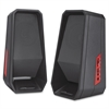 Compucessory Speaker System - 4 W RMS - Black - USB