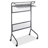 "Safco Impromptu Steel Frame Garment Rack - 58.8"" Height x 40.3"" Width x 29.8"" Depth - Black - Steel, Polycarbonate - 1Each"
