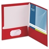 "Business Source Two-Pocket Folders with Business Card Holder - Letter - 8 1/2"" x 11"" Sheet Size - 100 Sheet Capacity - 2 Internal Pocket(s) - Card Paper - 25 / Box"