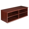 "Lorell Concordia Series Mahogany Laminate Desk Ensemble - 47.3"" x 17.8"" x 16.5"" - Mahogany - Mahogany Laminate - Assembly Required"