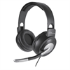 Compucessory Headset - Stereo - Gray, Silver - Wired - 32 Ohm - 20 Hz - 20 kHz - Over-the-head - Binaural - Ear-cup - 8 ft Cable