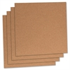 "Lorell Natural Cork Panels - 12"" Height x 12"" Width - Brown Cork Surface - 4 / Pack"