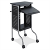 Safco Scoot Presentation Cart - 4 Casters - Steel Frame - Black