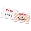 "Baumgartens Self-Expiring Visitor Badge - 3"" Width x 2"" Length - Rectangle - White - 100 / Box"