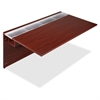 "Lorell Concordia Laminate Desk Ensemble - 66"" x 29.5"" x 40"" - Finish: Laminate, Mahogany"