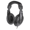 Cushion Stereo Headphones w/Vol Cntrl - Stereo - Black - Mini-phone - Wired - 32 Ohm - 20 Hz 20 kHz - Over-the-head - Binaural - Circumaural - 5.92 ft Cable