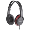 Stereo Headset w/ Volume Control - Stereo - Black, Red - Mini-phone - Wired - 32 Ohm - 20 Hz 20 kHz - Over-the-head - Binaural - Circumaural - 5.92 ft Cable
