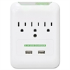 Compucessory 3 Outlets Surge Suppressor - 3 x AC Power, 2 x USB - 5 V DC Output