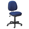 "Lorell Contoured Back Task Chair - Blue Seat - Black Frame - 5-star Base - Blue, Black - Plastic - 24"" Width x 14"" Depth x 25"" Height"