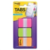 "Post-it Durable Filing Tabs w/Dispenser - Write-on Tab(s) - 1.50"" Tab Height x 1"" Tab Width - Pink, Green, Orange Tab(s) - 36 / Pack"