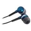 Compucessory Ultralight Earbuds - Stereo - Silver, Blue - Mini-phone - Wired - 32 Ohm - Earbud - Binaural - In-ear - 3.92 ft Cable