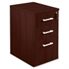 "Concordia Laminate Desk Ensemble - 15.8"" x 21.9"" x 27"" - 3 x Box Drawer(s), File Drawer(s) - Finish: Laminate, Mahogany"