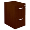 "Concordia Laminate Desk Ensemble - 15.8"" x 21.9"" x 27"" - 2 x File Drawer(s) - Finish: Laminate, Mahogany"