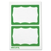 "Self-adhesive Visitor Badge - 3.50"" Width x 2.25"" Length - White, Green - 100 / Box"