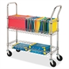"Wire Mail Cart - 99.21 lb Capacity - 4 Casters - 4"" Caster Size - Steel - Chrome"