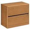 "10700 Series 2-drawer Laminate Lateral Files - 36"" x 20"" x 29.5"" - 2 x Drawer(s) for File - Lateral - Rounded Edge, Stain Resistant, Abrasion Resistant, Lockable - Harvest - Laminate - Hardwood -"