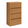 "HON Laminate Four-drawer Lateral Files - 36"" x 20"" x 59.1"" - 4 x Drawer(s) for File - Lateral - Rounded Edge, Stain Resistant, Abrasion Resistant - Harvest - Laminate - Hardwood - Recycled"