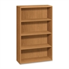 "Laminate Harvest Bookcases - 36"" x 13.1"" x 57.1"" - 4 x Shelf(ves) - 312 lb Load Capacity - Double Radius Edge, Durable, Stain Resistant, Scratch Resistant - Harvest - Laminate - Wood - Recycled"