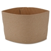 Genuine Joe Protective Corrugated Cup Sleeves - Brown