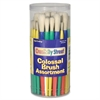 Colossal Paint Brush Assortment - 58 Brush(es) - Plastic Ferrule - Plastic Handle - Assorted