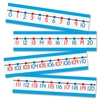 "Number Line Bulletin Board Set - 4"" Height x 6"" Width - Red, Black, Blue - 1 / Set"