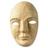 "Paper Mache Masks - 8"" x 6"" x 3"" - 12 / Set - Natural - Paper"
