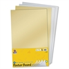 "Pacon Half-size Sheet Poster Board - 14"" x 22"" - 4 / Pack - Gold, Silver"
