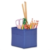 "Carson-Dellosa Table Top Storage Containers - 4 Pocket(s) - 3 Divider(s) - 5.3"" Height - Blue - 3 / Pack"