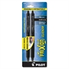 FriXion .7mm Clicker Erasable Gel Pen - 0.7 mm Point Size - Black Gel-based Ink - Black Barrel - 2 / Pack