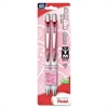 Pentel EnerGel Pearl Breast Cancer Awareness Liquid Gel Pen - Medium Point Type - 0.7 mm Point Size - Refillable - Black Gel-based Ink - Pearl White, Pink Barrel - 2 / Pack