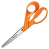 "Fiskars Classic Office Scissors - 8"" Overall Length - Bent - Stainless Steel - Stainless Steel - 1 Each"