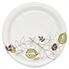 "Dixie Pathways Heavywt Small Paper Plates - 125 / Pack - 5.88"" Diameter Plate - Paper Plate - Microwave Safe - White, Brown, Green - 500 Piece(s) / Carton"