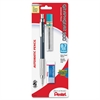 Pentel GraphGear 500 Mechanical Drafting Pencil - HB, #2 Lead Degree (Hardness) - 0.7 mm Lead Diameter - Black Lead - Silver, Blue Barrel - 1 / Pack