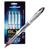Uni-Ball Vision Elite Rollerball Pens - Bold Point Type - 0.8 mm Point Size - Refillable - Assorted Pigment-based Ink - Clear Barrel - 4 / Pack