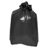 "Heavy-duty Low-density Trash Bags - Medium Size - 33 gal - 33"" Width x 39"" Length x 1.50 mil (38 Micron) Thickness - Low Density - Black - 100/Carton"