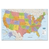 "House of Doolittle Laminated U.S. Map - United States - 38"" Width x 25"" Height"