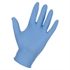 Genuine Joe Nitrile Powder Free Blue Indust Gloves - Medium Size - Nitrile - Light Blue - Puncture Resistant, Textured, Powder-free - For Industrial - 100 / Box
