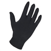 Genuine Joe 8 mil Ultra Protection Powdered Latex Gloves - Medium Size - Latex - Black - Heavy Duty, Textured, Powdered - For Industrial - 100 / Box