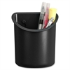 Lorell Recycled Plastic Mounting Pencil Cup - Plastic - 1 Each - Black