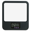 Fabric Panel Digital Clock Mirror - Black
