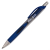 Retractable Gel Pen - 1 mm Point Size - Blue Gel-based Ink - Black Barrel - 1 Dozen