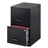 "SOHO 18"" 2-Drawer File Cabinet - 14.3"" x 18"" x 24"" - 2 x Drawer(s) for File - Locking Drawer, Pull Handle, Glide Suspension - Black - Baked Enamel - Plastic, Steel - Recycled - Assembly Require"