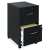 "Lorell SOHO 18"" 2-Drawer Mobile File Cabinet - 14.3"" x 18"" x 24.5"" - 2 x Drawer(s) for File - Locking Drawer, Pull Handle, Casters, Glide Suspension - Black, Chrome - Baked Enamel - Steel - Recycled -"
