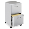 """Lorell SOHO 18"""" 2-Drawer Mobile File Cabinet - 14.3"""" x 18"""" x 24.5"""" - 2 x Drawer(s) for File - Locking Drawer, Pull Handle, Casters, Glide Suspension - Gray, Chrome - Baked Enamel - Steel - Recycled -"""