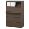 "Fortress Series 42'' Lateral File - 42"" x 18.6"" x 67.6"" - 1 x Shelf(ves) - 5 x Drawer(s) for File - Letter, Legal, A4 - Lateral - Magnetic Label Holder, Ball Bearing Slide, Ball-bearing Suspens"