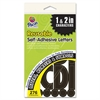 Pacon Self-adhesive Letters - 276 - Self-adhesive - Tear Resistant, Acid-free, Fade Resistant, Durable - Black - 1 / Pack
